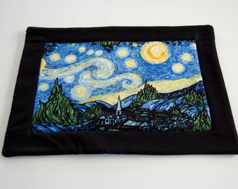 Starry Night Mug Rug, Van Gogh
