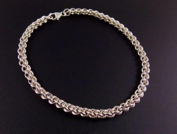 Sterling Silver Fill Fine JPL3 Chainmaille Bracelet