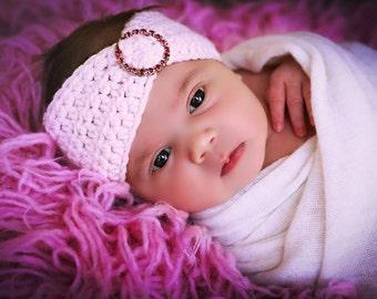 Newborn Baby Girl Photo Prop Rhinestone Headband