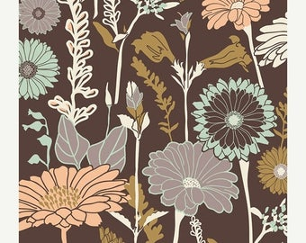 40% OFF SALE - Flower Field in Soil  CUL-9670 - Cultivate - Bonnie Christine for Art Gallery Fabrics - By the Yard