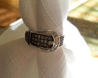Vintage Champagne Diamond Ring Size 7