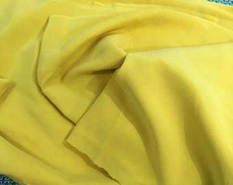"Vintage Goldenrod Yellow Brushed Polyester Fabric 46"" PRICE PER YARD- vintage fabric, brushed polyester fabric, yellow fabric"
