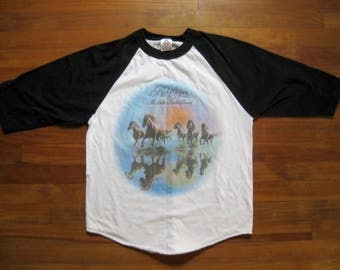 Vintage Bob Seger and the Silver Bullet Band Shirt / Against the Wind / Ringer / Raglan / Jersey / T-Shirt
