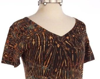 M Shibori Tie Dye V-Neck T Women's - Zircon