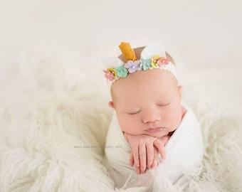 Newborn Unicorn Headband | Unicorn Birthday | Unicorn Party | Unicorn Baby Headband | Unicorn Photo Prop | Newborn Photography