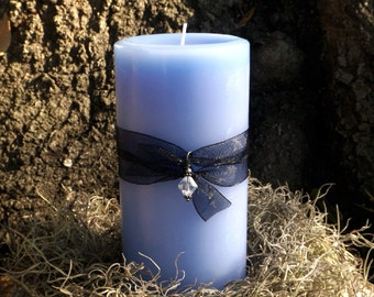 Goddess of Water Pillar Candle - Witches candle, Candle magick, magic, altar decor, elemental magic, Wiccan, Pagan, witch