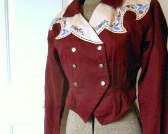 Vintage 80's cropped western Jacket shirt
