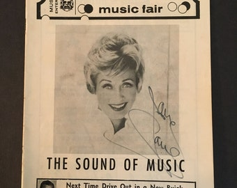 Vintage Collectible Autographed Theater Program Jane Powell Sound of Music 1969