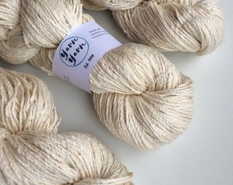 Handspun khadi cotton yarn. Super soft cotton yarn with an ethical ideology! 100g. Worsted weight super soft.