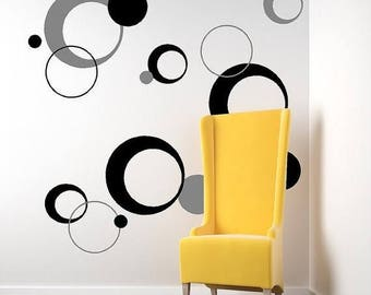 20% off funky circles-Vinyl Lettering decal wall words graphics Home decor itswritteninvinyl