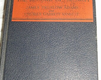 The Record of America Adams and  Vannest Book 1935
