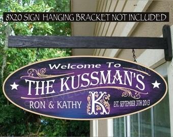 "MONOGRAM ""K"" Family Name Persons Name Gift Aluminum Custom Personalized Sign"
