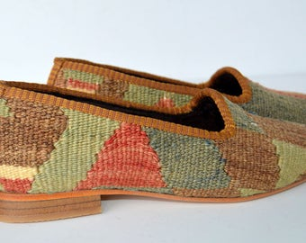 Women Kilim loafer Handmade - Free shipping by DHL-37 Euro size