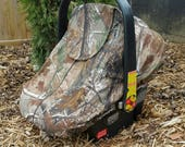 Spring/Summer Baby Carseat Cover - Infant Carseat Cover - Solstice Line in Real Tree Camo