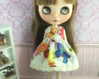 Blythe Dress - Butterfly and Flowers