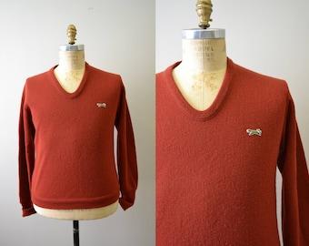 1970s Fox V-Neck Sweater