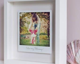 Personalised Framed Polaroid Gift - Metal Photo Box Frame, Gift For Her/Him, Anniversary Gift, Wall Art, Home Decor, Custom Print