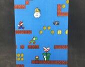 Super Mario hand bound journal
