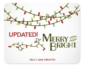 Christmas Lights Clip Art includes strands in White and in Green