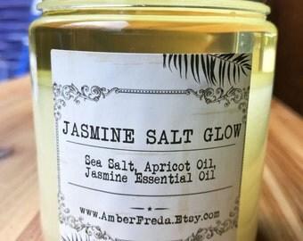 Jasmine Salt Glow Scrub - Body scrub to help exfoliate and make skin feel silky soft