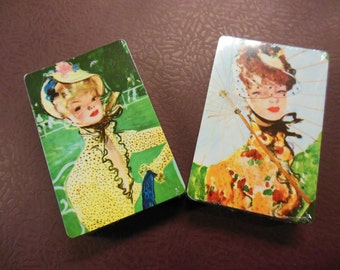 Western Publishing Pretty Ladies Decks of Playing Cards, Vintage NIP, Old Stock Sealed