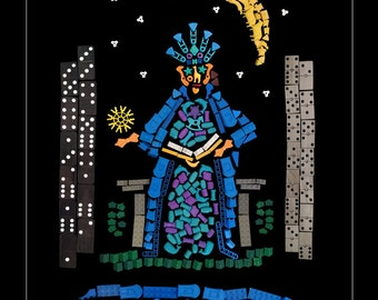 "The High Priestess Card - 11 x 14"" Tarot Card Poster Tarot Card Print Fortune Telling Occult Art Tarot Wall Art Fun Tarot"