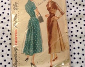 Vintage Simplicity 2809 Formal or Day Dress Sewing Pattern 1950s 30 Inch Bust