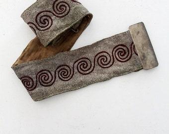 SALE vintage lodge regalia,  metallic silver belt