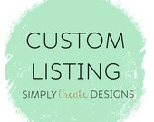 Custom Listing for CarmenGutierrez06