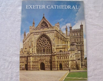 Vintage Exeter Cathedral Souvenir Booklet Pitkin Pictorials 1976 England Travel Guide Church of St Peter