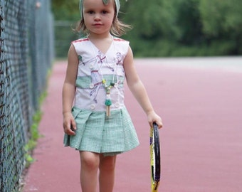 Tennis Dress with Bloomers and Head Wrap