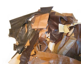 Recycled Genuine Leather Remnant Scraps | Leather Scraps | Genuine Leather Pieces | Recycled Leather | Colorful Leather | Leather Bundle