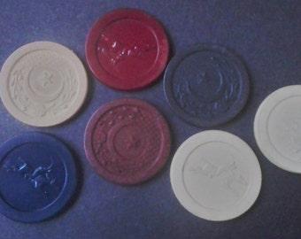Poker Chip Assortment Lot of 7