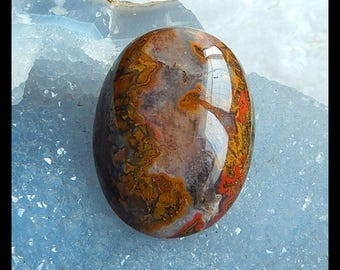New,Warring States Red Agate Gemstone Cabochon,40x30x16mm,18.2g