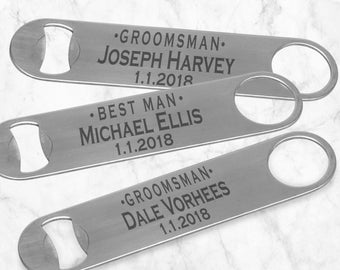 Groomsmen Bottle Opener - Metal Bottle Opener - Wedding Bottle Opener - Personalized Bottle Opener - Gift For Groomsmen - Gift For Best Man