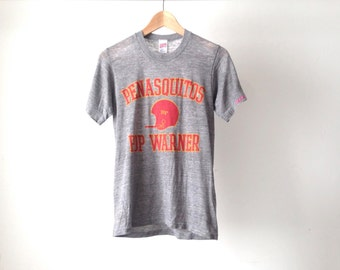 vintage HEATHER GREY classic t-shirt ATHLETIC sportswear basic normcore shirt