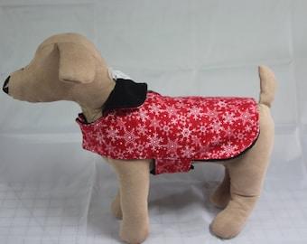 XXSmall Fleece Snowflake Pet Coat