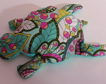 Pain Reliever Hot/ Cold Herbal Therapy Flax Seed filled Peacock print Turtle