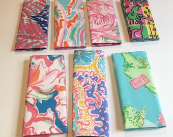 Luggage Handle Covers made with Authentic Lilly Pulitzer signature fabric