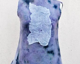 Tunic, felted tunic, felt, wool, merino wool, pink, fibre art, gift, size Medium