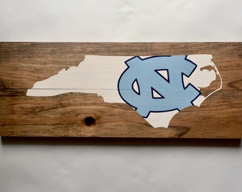 UNC Tarheels Logo Wood Sign, hand painted, carolina