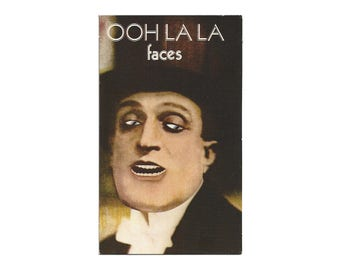 Vintage FACES Ooh La La Original Promo Postcard