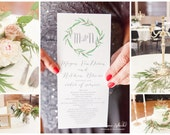 Printable Wedding Ceremony Program - LeafWreath