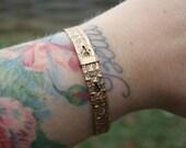 Vintage Rose Gold Filled Victorian Bracelet