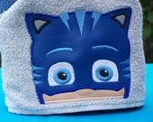 Hooded Character Towel - Bedtime Cat Hero