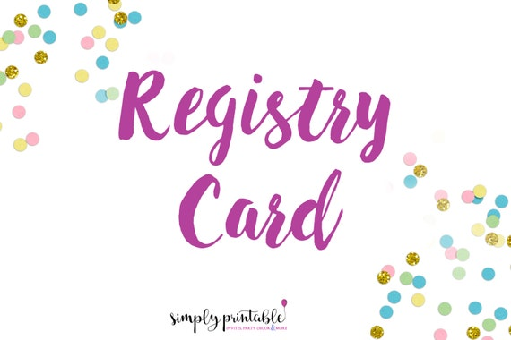 Registry Card to Match Invitation