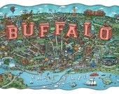 Illustrated Map of Buffalo