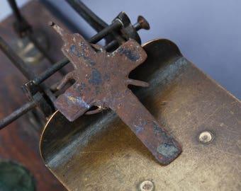 Antique Old cross Christian Cross pendant. broken loop. Orthodox church