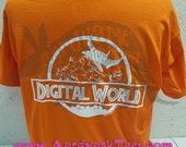 Digital World - Jurassic Park & Digimon Mashup Parody Tee