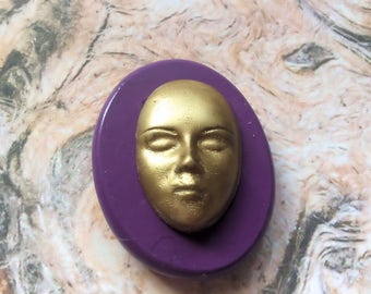 art doll face- flexible silicone push mold